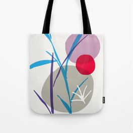 zen garden - blue flower Tote Bag