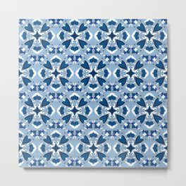 Abstract flower pattern 9a Metal Print