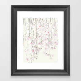 pink cherry blossom Framed Art Print
