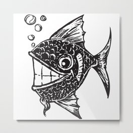 Happy Fish Metal Print