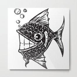 Happy Fish Metal Print
