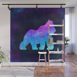 GORILLA IN SPACE // Animal Graphic Art // Watercolor Canvas Painting // Modern Minimal Cute Wall Mural