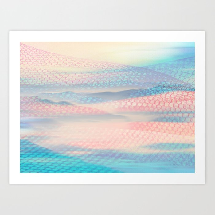 Tulle Mountains 2 Art Print