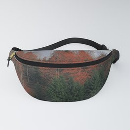 October Forest Red Green Fanny Pack
