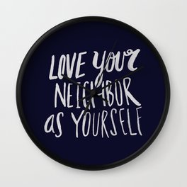 Love Your Neighbor x Navy Wall Clock