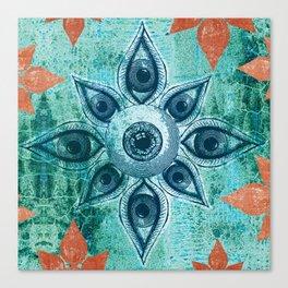 Mandalas Eyes Canvas Print