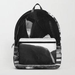 Elephants (Black and White) Backpack