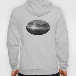 Black and White Wyoming Sunset over the Beartooth Mountains Hoody