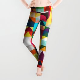 Abstract Geometric Mountains Leggings