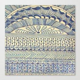 Blue Color Magic 1 Canvas Print