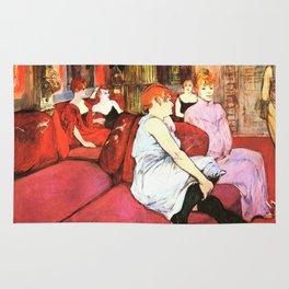 """Henri de Toulouse-Lautrec """"Au Salon de la rue des Moulins"""" Rug"""