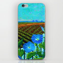 Blue Sky Smiling iPhone Skin