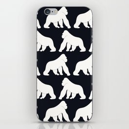 Gorillas White iPhone Skin