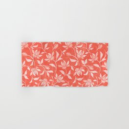 Living Coral Floral Pattern 3 Hand & Bath Towel