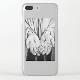 Jesus Hands Clear iPhone Case