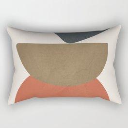 Abstract Balancing Stones Rectangular Pillow
