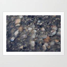 River Pebbles Art Print