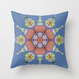 Sri Kolluru Mookambika Temple Throw Pillow