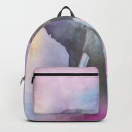 Elephant in a rainbow fog Backpack