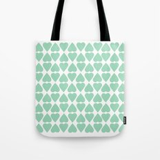 Diamond Hearts Repeat Mint Tote Bag