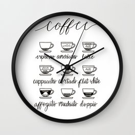 coffee guide series Wall Clock