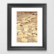 broken road Framed Art Print