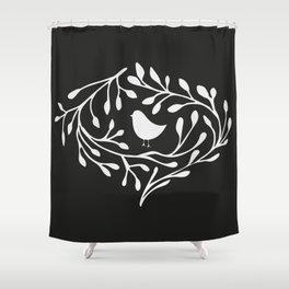 BRANCH BIRD Shower Curtain