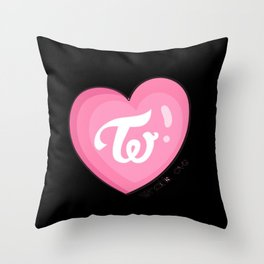 Twice what is love Throw Pillow