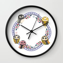 Owl-Blue (You Are Owlsome) Wall Clock