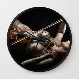 Nude Violin - Fine Art of Bondage Wall Clock