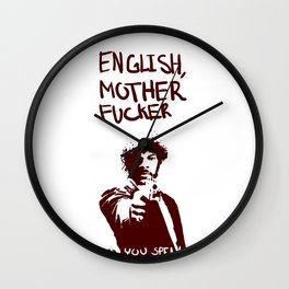 Pulp Fiction Samuel L Jackson English Motherfucker Do You Speak It? Wall Clock