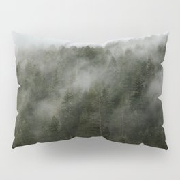 Pacific Northwest Foggy Forest Pillow Sham