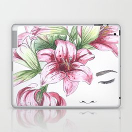 Lilium watercolor Laptop & iPad Skin