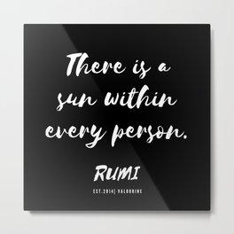 19   Rumi Quotes Good Vibes 190514 Metal Print