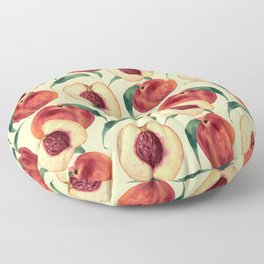 Watercolor sweet peaches Floor Pillow
