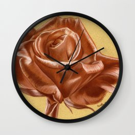 Sanguine Rose Wall Clock