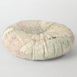 Vintage Map of Nashville Tennessee (1877) Floor Pillow