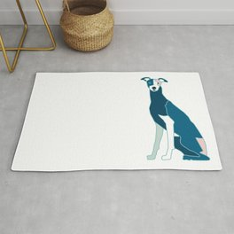 Whippet Puppy Rug