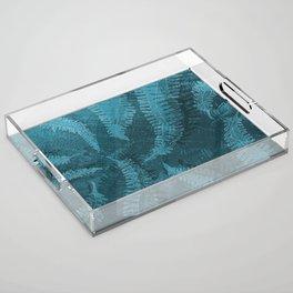 Ferns (light) abstract design Acrylic Tray