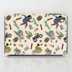 On the freedom experienced by Desert Bike Harpies.   iPad Case