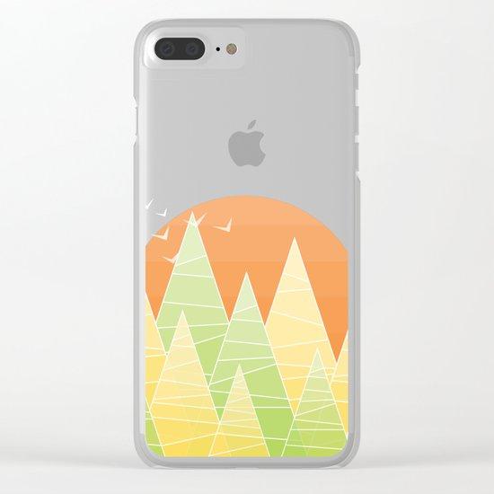 Geometric Lake Mountain II - Summer Clear iPhone Case