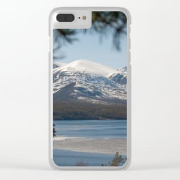 Icy river in Norway Clear iPhone Case