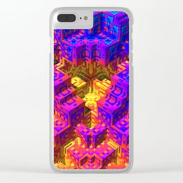 Psychedlic Pstairs Clear iPhone Case