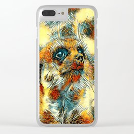 AnimalArt_Meerkat_20170601_by_JAMColorsSpecial Clear iPhone Case