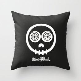 DarkSpirals Collection: Skull Throw Pillow