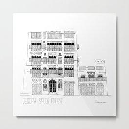 Jeddah AlBalad Souq AlJami Facade BW Saudi Arabia Metal Print