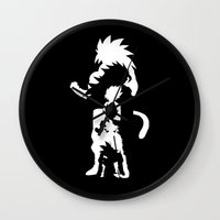 goku Wall Clocks featuring Goku Transformations by Prince Of Darkness