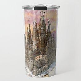 Barcelona Sagrada Familia - axonometric Travel Mug