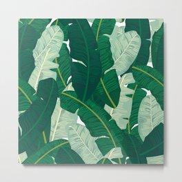 Classic Banana Leaves in Palm Springs Green Metal Print