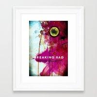 breaking bad Framed Art Prints featuring BREAKING BAD by Michael Scott Murphy